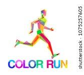 vector logo symbol runner... | Shutterstock .eps vector #1075257605