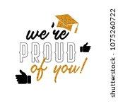 graduation wishes overlays ... | Shutterstock .eps vector #1075260722