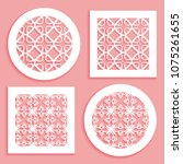 templates for laser cutting ... | Shutterstock .eps vector #1075261655