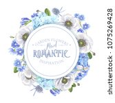 vector botanical banner with... | Shutterstock .eps vector #1075269428