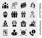 set of 16 people filled icons... | Shutterstock .eps vector #1075273826