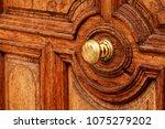 an antique bronze doorknob....   Shutterstock . vector #1075279202