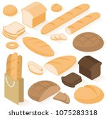 set of isometric flat design... | Shutterstock .eps vector #1075283318