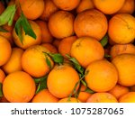 basket filled with fresh... | Shutterstock . vector #1075287065