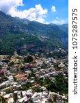 village of positano  villas... | Shutterstock . vector #1075287575