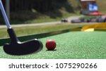 closeup of player play mini... | Shutterstock . vector #1075290266