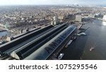 aerial photo amsterdam centraal ... | Shutterstock . vector #1075295546