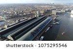 aerial photo amsterdam centraal ... | Shutterstock . vector #1075295546