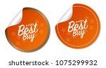 best buy stickers | Shutterstock .eps vector #1075299932
