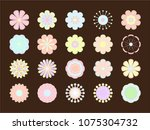 illustration stylized bright... | Shutterstock . vector #1075304732