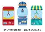 doll cabinet business concept... | Shutterstock .eps vector #1075305158