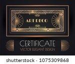 elegant vintage card  flyer ... | Shutterstock .eps vector #1075309868