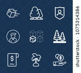 premium set with outline icons. ... | Shutterstock .eps vector #1075314386