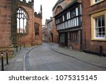 Street in the old town of coventry