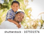 happy african american father... | Shutterstock . vector #107531576