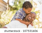 happy african american father... | Shutterstock . vector #107531606