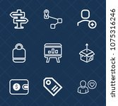 premium set with outline icons. ...   Shutterstock .eps vector #1075316246