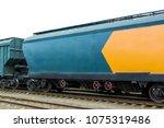 grain hoppers on the railway...   Shutterstock . vector #1075319486