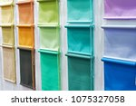 samples of color roller... | Shutterstock . vector #1075327058