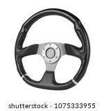 steering wheel  isolated on the ... | Shutterstock . vector #1075333955