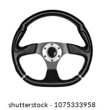 steering wheel  isolated on the ... | Shutterstock . vector #1075333958
