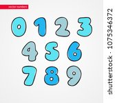 sketch numbers. decorative... | Shutterstock .eps vector #1075346372