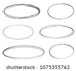 Set Of Vector Hand Drawn Ovals...