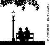 lovely retired elderly couple... | Shutterstock .eps vector #1075366058