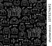 vector seamless pattern with... | Shutterstock .eps vector #1075374692