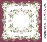 scarf floral print. russian...   Shutterstock .eps vector #1075377926