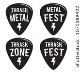 rock fest badge label vector... | Shutterstock .eps vector #1075389422