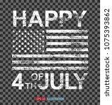 grunge american flag on... | Shutterstock .eps vector #1075393862