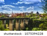bridge to the old city ... | Shutterstock . vector #1075394228