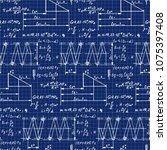spring construction. physics... | Shutterstock .eps vector #1075397408