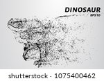 dinosaur of particles. a... | Shutterstock .eps vector #1075400462