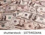 closeup of assorted american... | Shutterstock . vector #1075402646