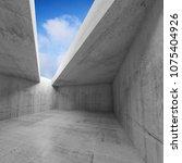 empty room  concrete walls and... | Shutterstock . vector #1075404926