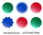 vector colorful badges | Shutterstock .eps vector #1075407596