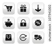 shopping buttons for website  ... | Shutterstock .eps vector #107541002