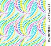 boho tie dye pattern. native... | Shutterstock .eps vector #1075412135