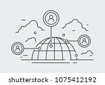 social network icon  people... | Shutterstock .eps vector #1075412192