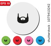 garibaldi beard style. beard... | Shutterstock .eps vector #1075413242