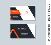 modern business card template... | Shutterstock .eps vector #1075414172