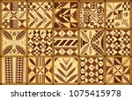 polynesian ethnic ornament set  ... | Shutterstock .eps vector #1075415978