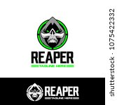unique reaper vector logo... | Shutterstock .eps vector #1075422332