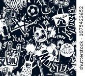 abstract seamless grunge urban... | Shutterstock .eps vector #1075423652