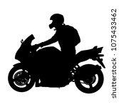 silhouettes rider participates... | Shutterstock . vector #1075433462