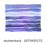watercolor. blue abstract... | Shutterstock . vector #1075435172