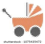 halftone hexagonal baby... | Shutterstock .eps vector #1075435472