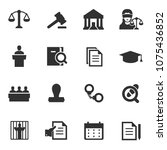 law icon  monochrome icons set. ... | Shutterstock .eps vector #1075436852